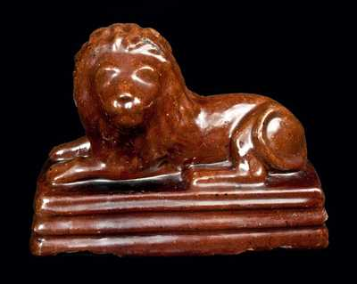 Ohio Lion Figure Manufactured Out of Brick Clay Signed