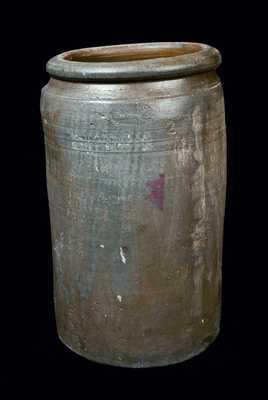 Rare J. P. PARKER (Montour County, PA) Stoneware Crock