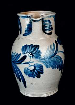 One-Gallon Stoneware Pitcher, Baltimore circa 1850