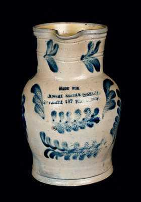 Rare Stoneware Pitcher with Philadelphia Advertising