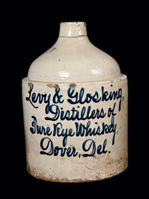 Dover, Delaware Stoneware Script Jug