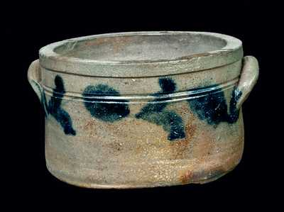 Cobalt-Decorated Stoneware Cake Crock, Mid-Atlantic origin