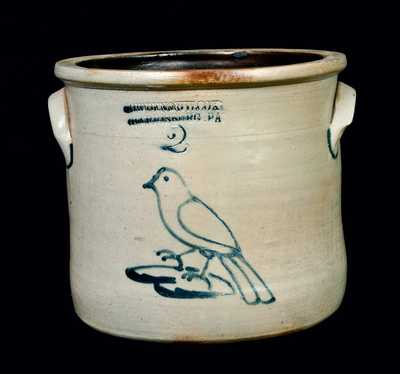 COWDEN & WILCOX Stoneware Jar with Bird on Stump