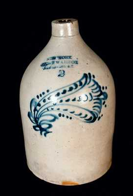 NEW YORK STONEWARE CO. Decorated Jug