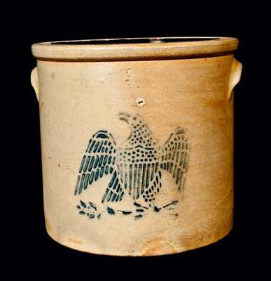 Stoneware Crock with Stenciled Eagle, Taunton, Massachusetts