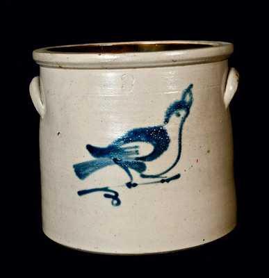 Fulper, Flemington, NJ Stoneware Bird Crock