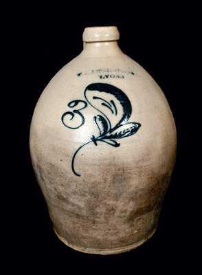 T. HARRINGTON / LYONS Stoneware Jug with Slip-Trailed Leaf Decoration