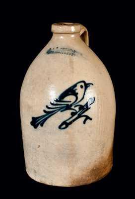 J. & E. NORTON / BENNINGTON, VT. Stoneware Jug with Bird Decoration