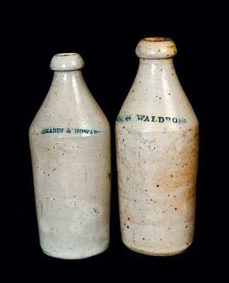 Lot of Two: Stoneware Bottles with Advertising Names