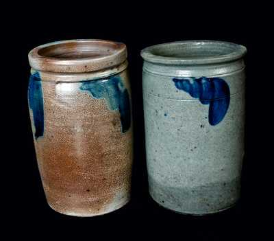 Lot of Two: Strasburg, VA Stoneware Crock and Baltimore, MD Stoneware Crock