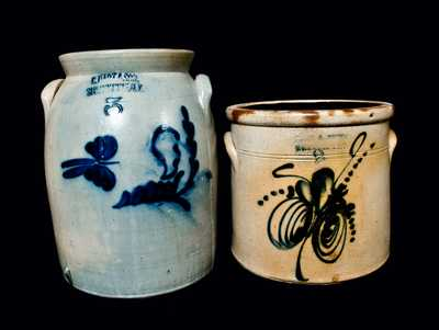 Lot of Two: FRANK B. NORTON Stoneware Crock and C. HART & CO. Crock