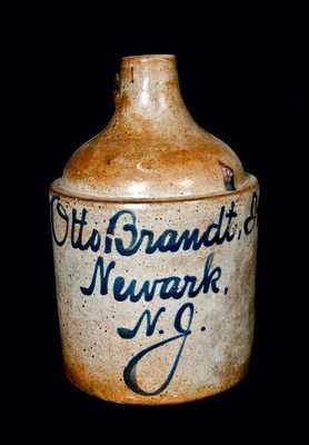 Newark, NJ Stoneware Script Jug