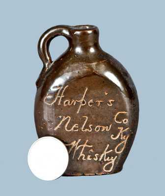 Miniature Ithaca, NY Stoneware Whiskey Jug