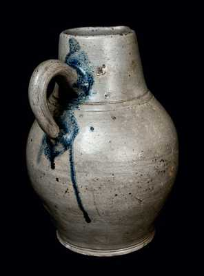 Extremely Rare Incised Stoneware Pitcher, J. REMMEY / MANHATTAN - WELLS / NEW YORK