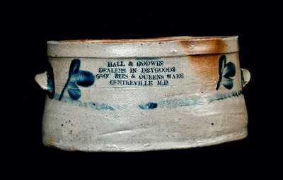 Rare Centerville, Maryland, Advertising Butter Crock (Eastern Shore)