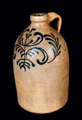 EDMANDS & CO. (Charlestown, MA) Stoneware Jug w/ Slip-Trailed Decoration