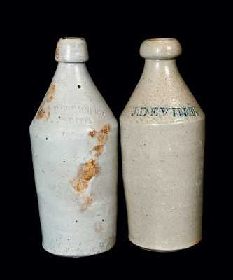 Lot of Two: Stoneware Bottles, Including 1874 Root Beer Bottle