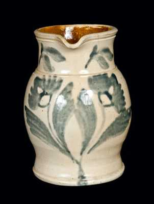 Half-Gallon Bristol-Slip-Glazed Stoneware Pitcher, attrib. Thomas Haig, Jr., Philadelphia, PA