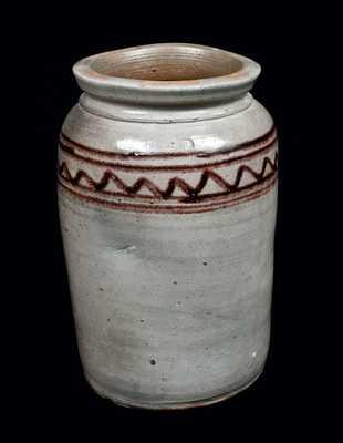 Rare Henry Glazier, Huntingdon, PA, Decorated Stoneware Jar