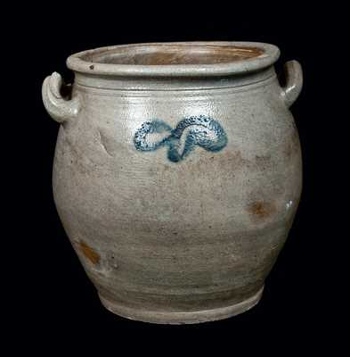 New Jersey Stoneware Jar with Open Handles, circa 1800