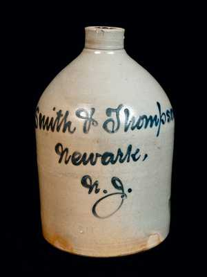 Newark, NJ Stoneware Advertising Jug