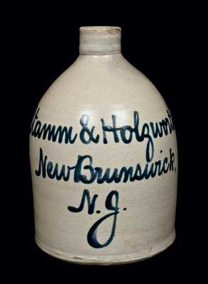 New Brunswick, NJ Stoneware Advertising Jug