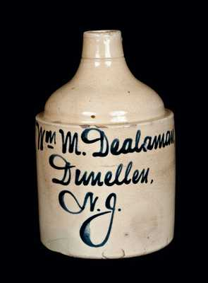 Dunellen, NJ Stoneware Advertising Jug