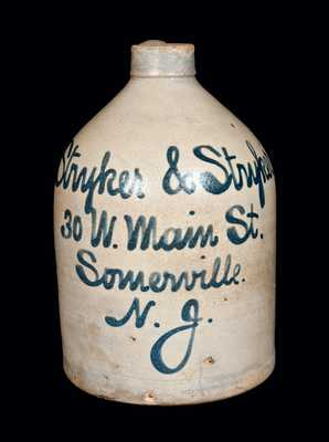 Somerville, NJ Stoneware Advertising Jug