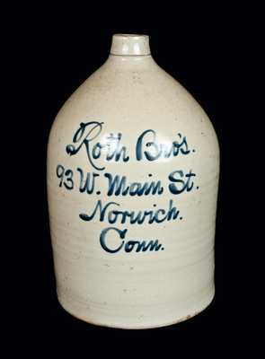 Norwich, Connecticut, Stoneware Advertising Jug