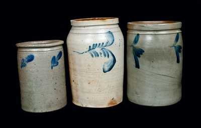 Lot of Three: Mid-Atlantic Stoneware Crocks