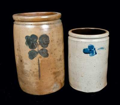 Lot of Two: Stoneware Crocks, Baltimore, circa 1880