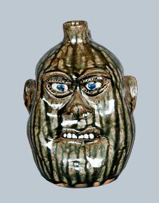 Stoneware Face Jug, Cleater & Billie Meaders, 1991
