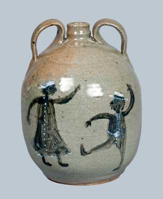 Chester Hewell Stoneware Jug Depicting Musicians