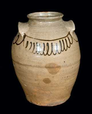 Slip-Decorated Stoneware Jar att. Thomas Chandler, Edgefield, SC