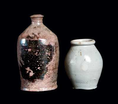 Two Small Pottery Articles, 19th century