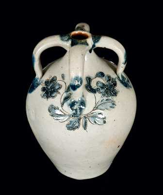 Diminutive Four-Handled Incised Stoneware Jug, Northeastern U.S.