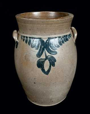Baluster-Form Stoneware Jar, Strasburg, VA origin, possibly Bell and Keister