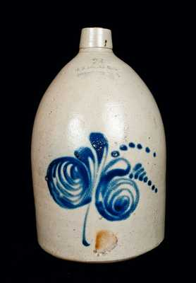 F. B. NORTON Stoneware Jug with Floral Decoration