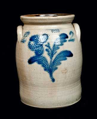 LYONS, New York Stoneware Crock with Flower