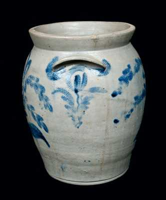 Stoneware Jar with Elaborate Floral Decoration, Baltimore, circa 1825