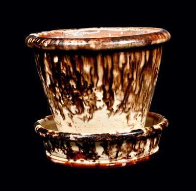 JOHN BELL / WAYNESBORO, Pennsylvania Redware Pottery Flower Pot