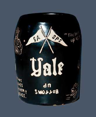Elaborate Yale University Stoneware Mug