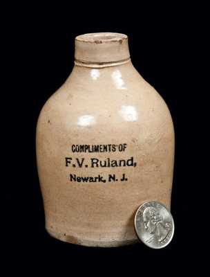 Miniature Newark, NJ Stoneware Advertising Jug