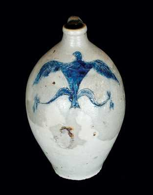 Rare Stoneware Jug with Incised Federal Eagle Decoration, probably CT, early 19th century