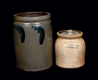 Lot of Two: Stoneware Crocks from Strasburg, VA and Montreal, Canada
