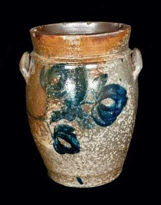 Decorated Stoneware Jar att. A. Keister, Strasburg, VA