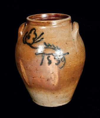 Norwalk, CT, Stoneware Jar Dated 1839