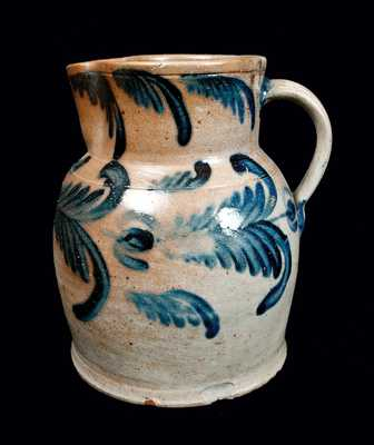 Exceptional Squat 2 1/2 Gal. Baltimore Stoneware Pitcher