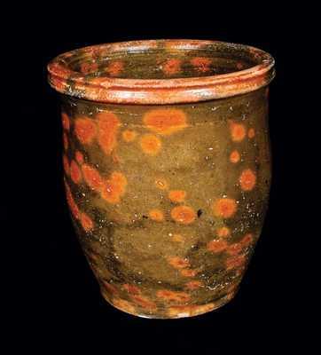 Shenandoah Valley Glazed Redware Jar, attrib. Schweinfurt, New Market, VA