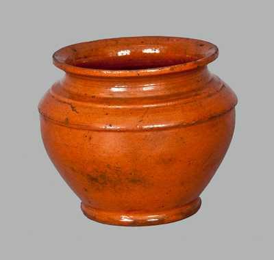 Rare Signed Isaac Boyer / 1848 Redware Sugar Bowl (Adams County, PA)